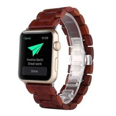 For iWatch Apple Watch Series Bracelet,Sunfei Natural Wood Wrist Watch Strap (Brown): Package Include: br Natural Wood Wrist Watch Band Strap Belt Watch For Apple Watch Series 2 / 1 Apple Watch Men, Apple Watch Bands 42mm, Apple Watch Series 2, Sport Watches, Watches For Men, Replacement Watch Bands, Apple Watch Accessories, Wood Bracelet, Bracelet Watch