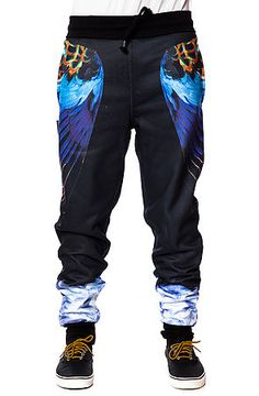 The Smoke N Feathers Sweatpants in Black by LATHC use rep code: OLIVE for 20% off!