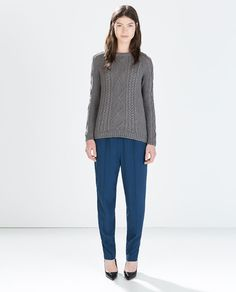 CABLE KNIT SWEATER from Zara