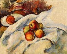 Apples on a Sheet - Paul Cezanne