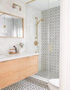 Bathroom Tile Designs, Bathroom Design Small, Bathroom Interior Design, Cement Tiles Bathroom, Bathroom Tile Walls, Toilet Tiles Design, Bathroom Feature Wall Tile, Glass Tile Bathroom, Shower Designs