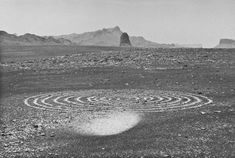 WHIRLWIND SPIRAL THE SAHARA  1988 Richard Long