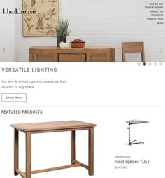 BigCommerce Website Enhancement for Furniture Industry in USA - Blackhouse Corporate Profile, Ecommerce Websites, Reading Table, Farmhouse Style Furniture, Industrial Furniture, Dining Bench, Innovation, Usa, Home Decor