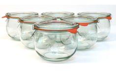 SET OF 6 WECK JARS http://buyapothecaryjars.com/weck-jars/ #weck #jars #buyapothecaryjars