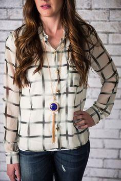 Cecilia Long Pendant Tassel Necklace
