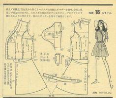 Japanese magazine dress pattern