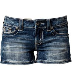 Miss Me Feliz Jeans (9,935 INR) ❤ liked on Polyvore featuring shorts, bottoms, pants, short, denim blue, trousers & shorts, miss me, tall shorts, blue shorts and blue short shorts