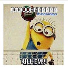#funny#volleyball#minions