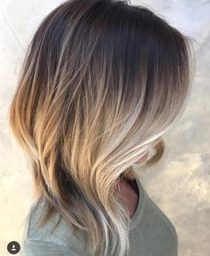 New Hair Color Ideas For Brunettes Balayage Fun Fall Ideas Medium Hair Styles, Curly Hair Styles, Ombre Hair Color, Hair Colors, Brunette Color, Blonde Ombre, Ombre Bob Hair, Blonde Hair, Haircut For Thick Hair
