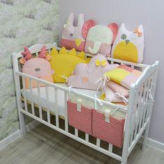 Crib bumper - Baby bed bumper - Crib bedding - Cot bumper set - baby shower gift - Crib bumpers Cot Bumper Sets, Baby Cot Bumper, Bed Bumpers, Baby Cribs, Nursery Crib, Crib Bedding, Crib Decoration, Kids Blocks, Mini Crib