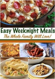 Easiest Family Weeknight Meals - This is a popular pin for back to school meals!