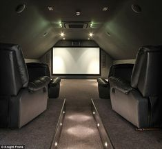 Private cinema: Katie will be able to watch her reality shows on the big screen
