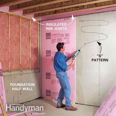 How to Finish a Basement: Framing and Insulating, Turn your unfinished basement into beautiful, functional living space. Framing basement walls and ceilings is the core of any basement finishing project. Learn how to insulate and frame the walls and ceilings, build soffits, frame partition walls and...