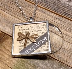A personal favorite from my Etsy shop https://www.etsy.com/listing/504824040/magnifying-glass-necklace-with-explore