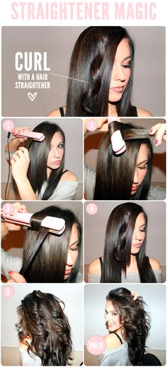 DIY Curling With a Flat Iron