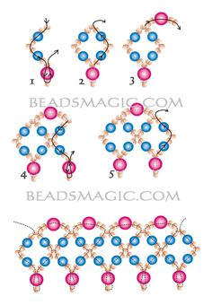 Free pattern for beautiful beaded necklace Elizabeth           U need: pearl beads 4 mm pearl beads 5-6mm seed beads 10/0-