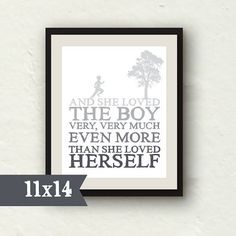 11x14 Nursery Decor - The Giving Tree - She loved the boy - baby boy nursery