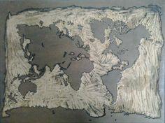 Matrix Mapa Mundi Xilogravura