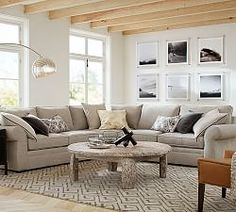 Wonderful Pottery Barn Pearce Couch. Pearce Upholstered 3 Piece L Shaped Sectional  With Wedge