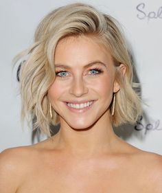 For a versatile style that you can change up with a quick flip of your part, try Julianne Hough's cute cut.