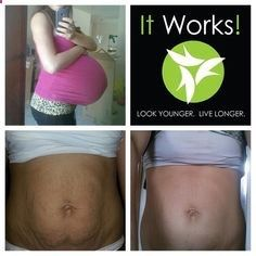 It Works! before and after picture. It Works body wraps, before and after, inch loss, that crazy wrap thing