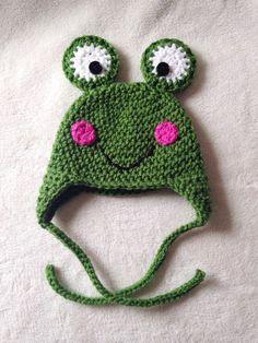 Frog Hat by knotsontots1 on Etsy