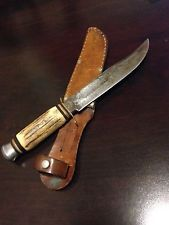Homemade Antique Antler Hunting Knife!