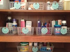 Organizing The Medicine Cabinet - Lemons, Lavender, & Laundry Medicine Cabinet Organization, Medicine Storage, Pantry Organization, Organize Medicine, Organizing Labels, Organising, Decorating Small Spaces, Decorating On A Budget, Bedroom Organization Diy
