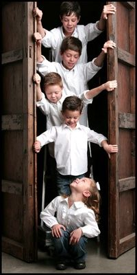 Fun Photo idea - like the use of the   ladder -- this would be cute for all the mom's grandchildren