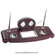 upto 65% off  Desk Organizer with Double Pen Stand ,Clock and Thermometer WASCB0087  http://woodartsuniverse.com/catalog/product_info.php?cPath=28&products_id=272
