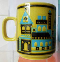 Hornsea Pottery Chateau Mug - John Clappison - 1976 - Hornsea Pottery, Pottery Mugs, Portmeirion Pottery, Pottery Houses, Hot Chocolate, Retro Vintage, 70s Kitchen, Dishes, Heavenly