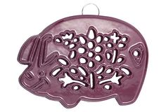 S/2 Pig Trivets, Purple on OneKingsLane.com