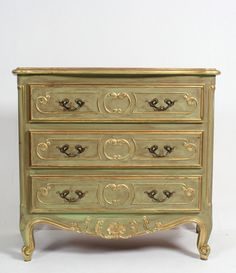 Fine Antique French Louis Style Painted Chateau Commode Chest Of Drawers #Mission #ChestofDrawers