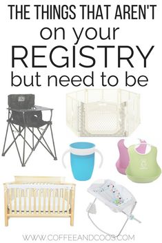 The things that aren't on your baby registry, but need to be!  Don't skip over this list of must have products for new moms.