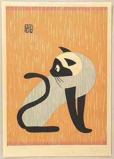 Creative Illustration, Kiyoshi, Saito, Gallery, and Japan image ideas & inspiration on Designspiration Asian Cat, Animal Gato, Art Chinois, Illustration Art, Illustrations, Botanical Illustration, Japanese Prints, Japan Art, Crazy Cats
