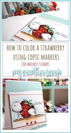 How to color a strawberry with copic markers. Here's a step by step tutorial!!!