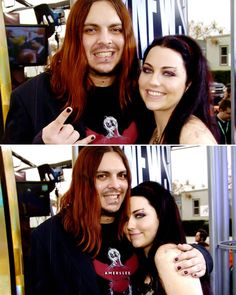 Shaun Morgan and Amy Lee 🖤 Ladies Of Metal, Metal Girl, Shaun Morgan, Snow White Queen, Amy Lee Evanescence, Love Is Gone, Alternative Music, Celebs, Celebrities
