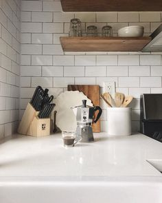 ".Gℯmary (@gemary) on Instagram: ""Favorite little corner // #rNgHOME"" kitchen. Open shelves. Coffee"