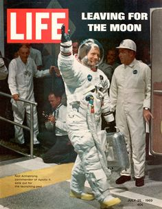 Neil Armstrong on the cover of LIFE Magazine July 1969