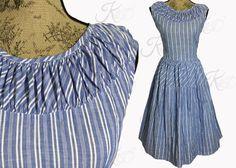 Vintage 50s Dress Vintage 1950s Dress 50s by KayDoveVintage