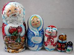 Russian stacking dolls - Christmas