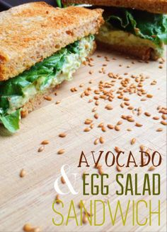 The Best Avocado and Egg Salad Sandwich----so good!