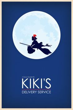 """""""Kiki's Delivery Service"""" by Hayao MIYAZAKI, Japan - this could've be Ghibli's eqiv to the Ambelin logo; but they use Totoro instead."""