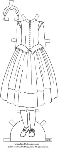 Наследие Бумажные куклы: 1620 Pilgrim платье Клары. ЗАМЕЧАТЕЛЬНЫЙ ПРОЕКТ! ПОДРОБНОЕ ИСТОРИЧЕСКОЕ И СТИЛИСТИЧЕСКОЕ ОПИСАНИЕ КАЖДОГО НАРЯДА.