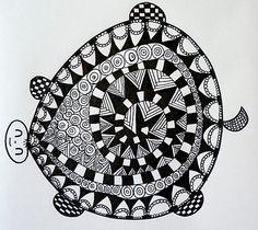 #Zentangle #turble by La mouette     --zentangle  turtle