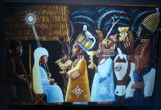 NIGERIA: Father Kevin Carroll (born Britain, active Nigeria, 1920-1993), Yoruba Nativity, 1948. Oil on canvas, 24 x 36 in.