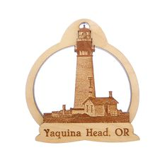 Looking for a Yaquina Head Lighthouse Ornament? Said to be the oldest building in Oregon, the Yaquina Head Lighthouse stands as the tallest lighthouse in the state and still guides ships to safety today.