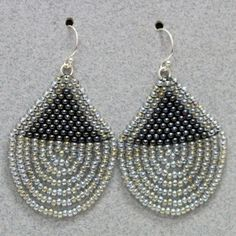 Beaded Shield Earrin