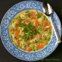 Chicken & Dumpling Soup from @Chris @ The Café Sucré Farine