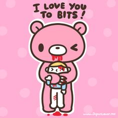 Gloomy Bear, a very famous character made by Mori Chack, is the perfect example of the fusion of kawaii and kowai (cute and creepy/scary)! Cute and pink and violent and deadly all at the same time~...